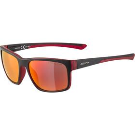 Alpina Lino I Glasses, black/red transparent/red mirror
